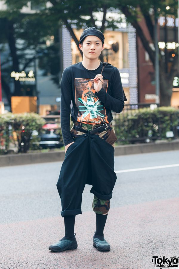 Harajuku Fashion Stylist in Layered Pants w/ John Galliano, Gucci & Vintage Items
