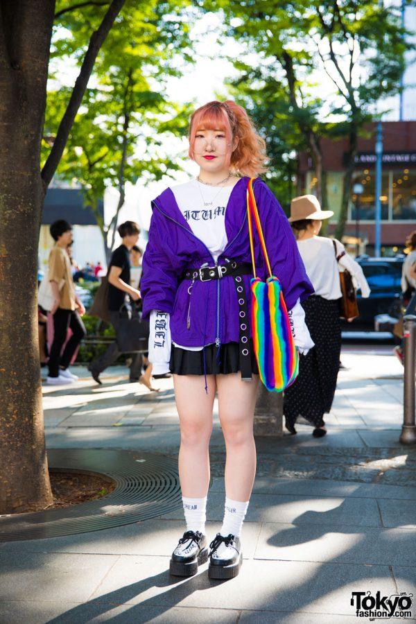Harajuku Girl in Colorful Streetwear w/ Banny, Libitum Adlib, (ME) Harajuku & Oh Pearl