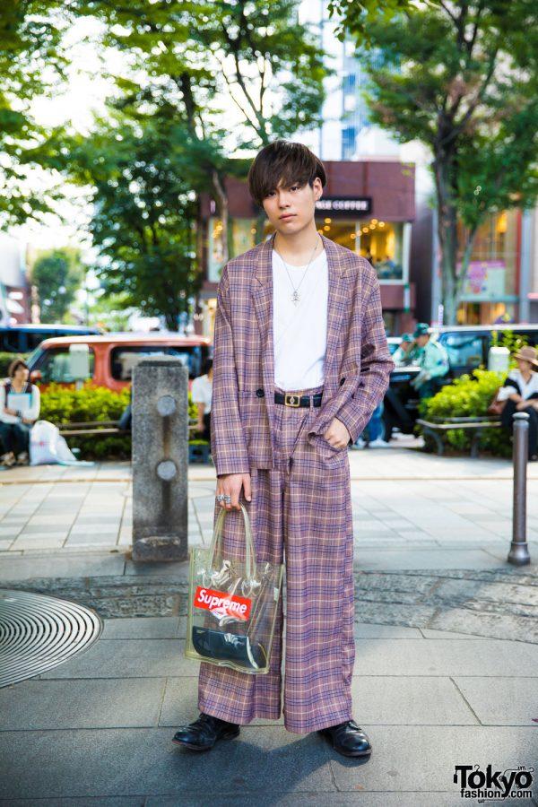 Vintage Plaid Harajuku Fashion w/ Comme des Garcons x Supreme, Issey Miyake & Chrome Hearts