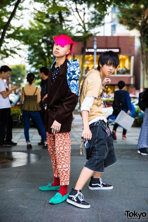 Harajuku Guys Streetwear Styles w/ Life, Nincompoop Capacity, Vans, Tokyo Human Experiments & Comme des Garcons