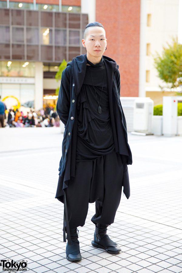 Dark Minimalist Japanese Street Style W Comme Des Garcons