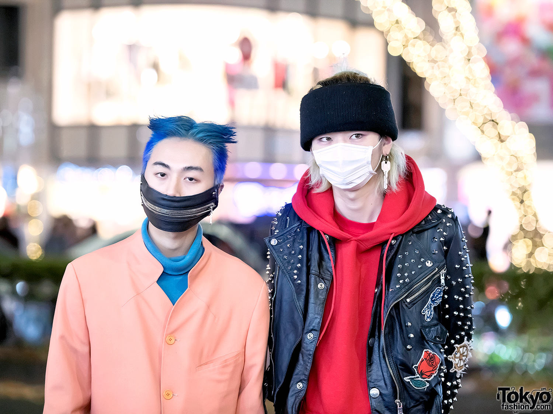 Harajuku Guys In Face Masks Cropped Suit Amp Leather W Junko Koshino