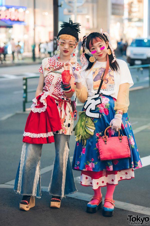 Harajuku Girls in Mixed Prints & Layered Fashion w/ Kinji, Angel Blue, Lovely-Chan No OO, Suzumebachi, Honwakapappa, Yosuke & 6%DokiDoki