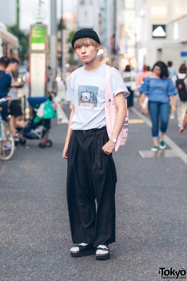 Japanese Performer Takkun In Harajuku Wearing Minimalist Street Style W I Me Jeffrey Campbell