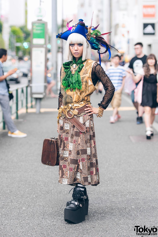 Japanese Steampunk Street Style W/ Pirate Hat, Antique