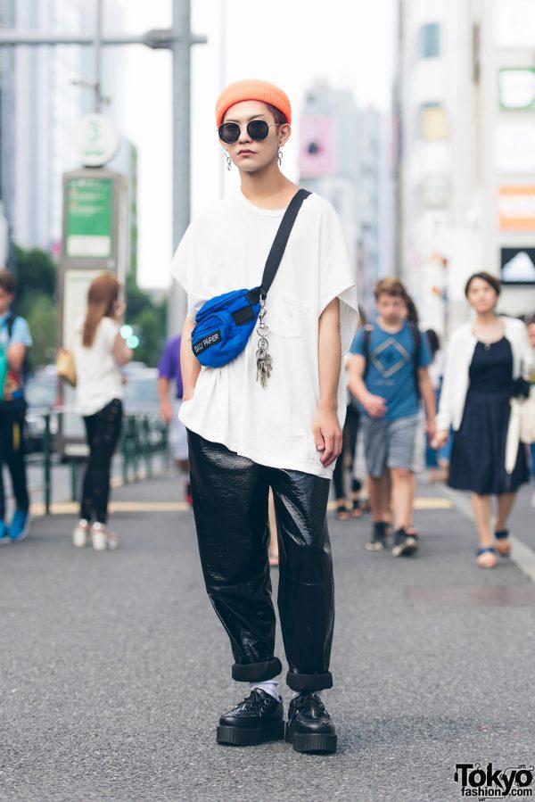 Harajuku Guy in Monochrome Fashion w/ Demonia, Daily Paper & IF8