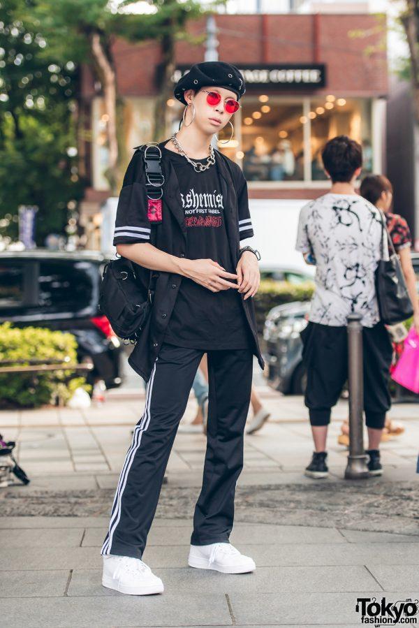 Harajuku Model in Black & White Street Style w/ Elephant TRIBAL Fabrics & Yesterdays Virgins