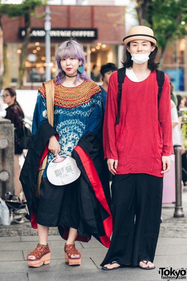 Harajuku Duo in Vintage Streetwear Fashion w/ Theatre Products, Ariel, Kanata, Comme des Garcons & Yoshiko Chonan