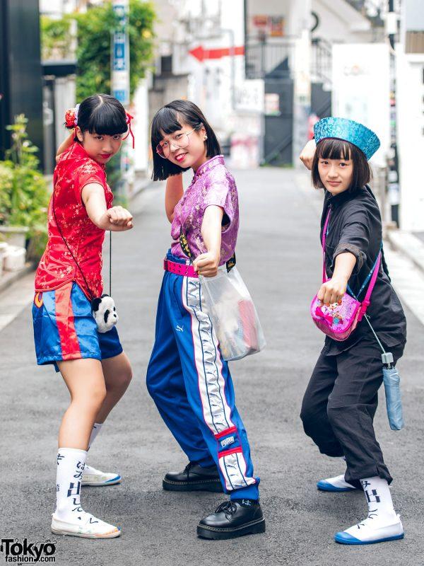 Harajuku Girls in Atarashii Gakkou No Leaders Socks, Vintage, Resale, Oh Pearl & Chinatown Fashion