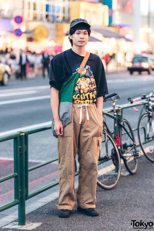 Harajuku Guy in Casual Streetwear w/ Kinji, Nike, Gap & July Nine