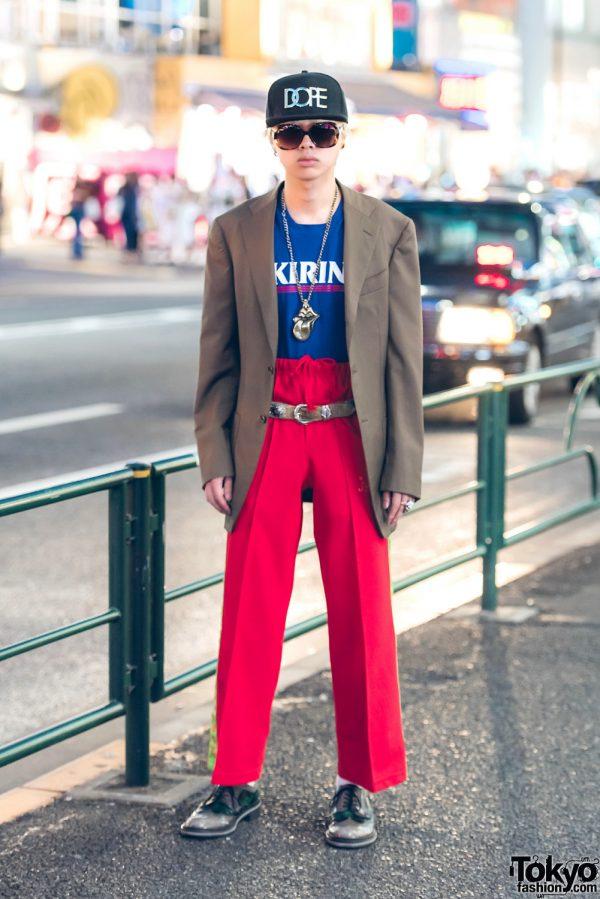 Harajuku Guy in Vintage Streetwear Style w/ Kirin, Christian Dior & DOPE Hat