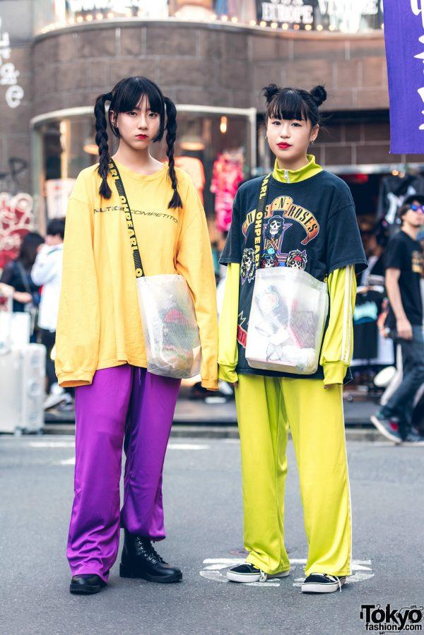 Harajuku Girls in Sporty Streetwear w/ Nautica, Kaka Vaka, Vans, Oh Pearl & Guns N' Roses Tee