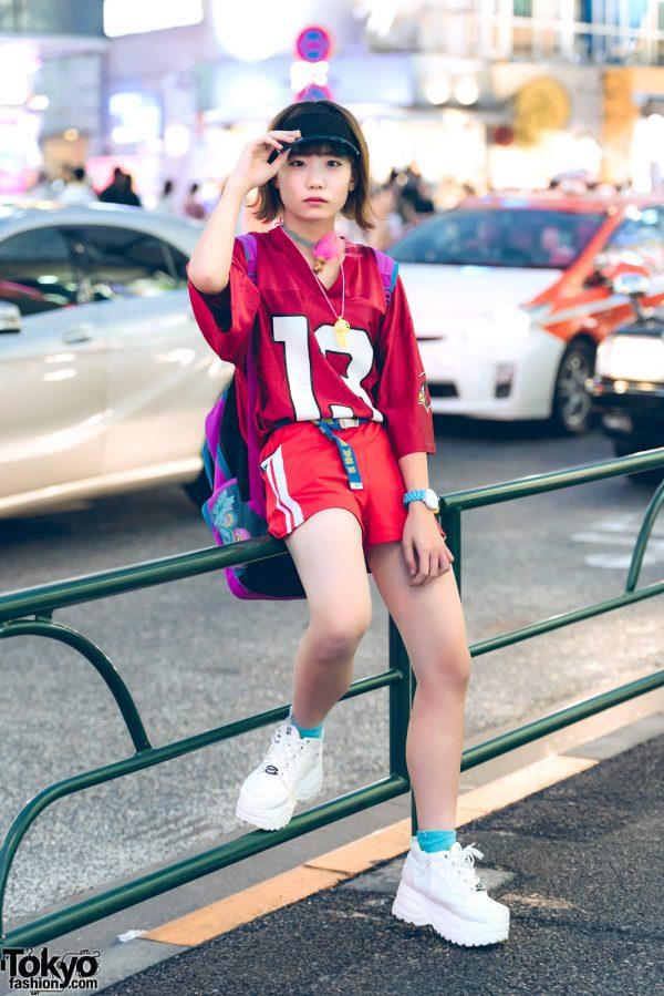 Harajuku Girl in Red Sporty Fashion w/ Nadia, Kiki2, Yosuke, Spinal, IKEA & My Little Pony