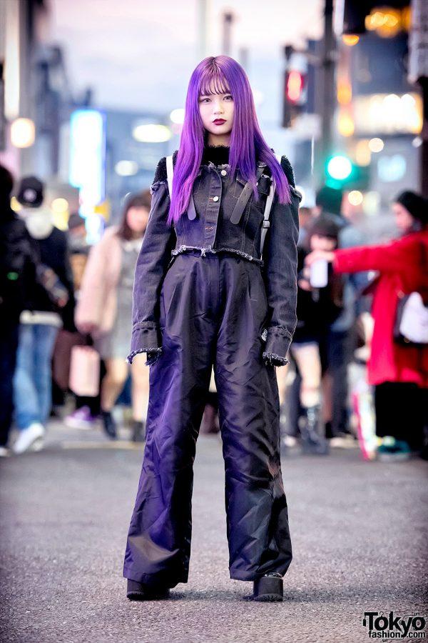Purple Hair & Monochrome Harajuku Streetwear w/ SS Mart, MYOB NYC & UNIF