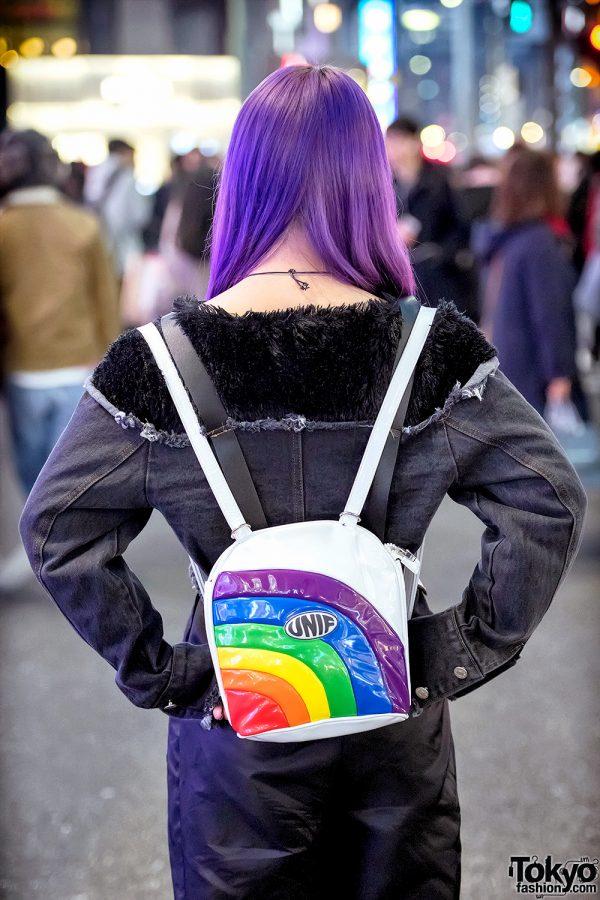 Purple Hair Amp Monochrome Harajuku Streetwear W Ss Mart