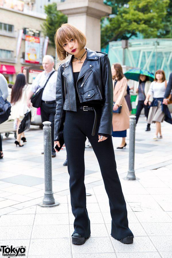 Dark Harajuku Street Style w/ Leather Jacket, Leinwande, Perverze, UNIF & Jean Paul Gaultier