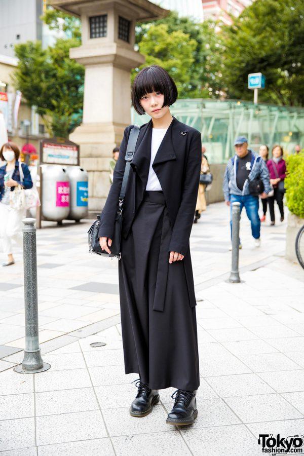 Minimalist Tokyo Street Fashion w/ Loewe Puzzle Bag, Helmut Lang, Three Quarters & Dr. Martens