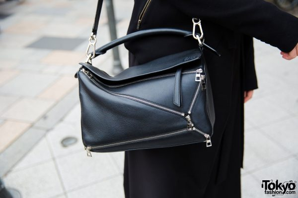 Minimalist Tokyo Street Fashion W Loewe Puzzle Bag