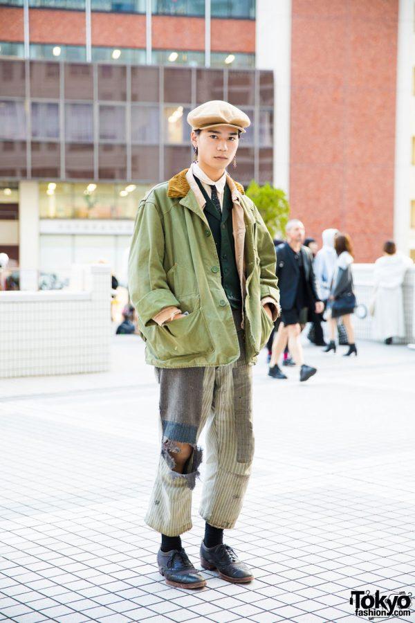 Vintage Tokyo Street Style W 1920s L L Bean Coat 1960s