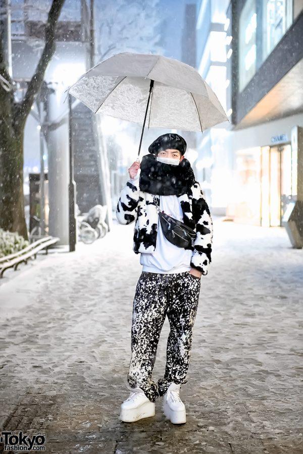 Monochrome Harajuku Snow Street Style w/ Berberjin, UNIF & YRU