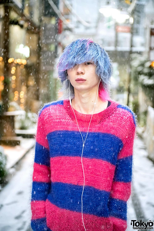 Snowy Harajuku Street Style W Blue Pink Hair Nincompoop