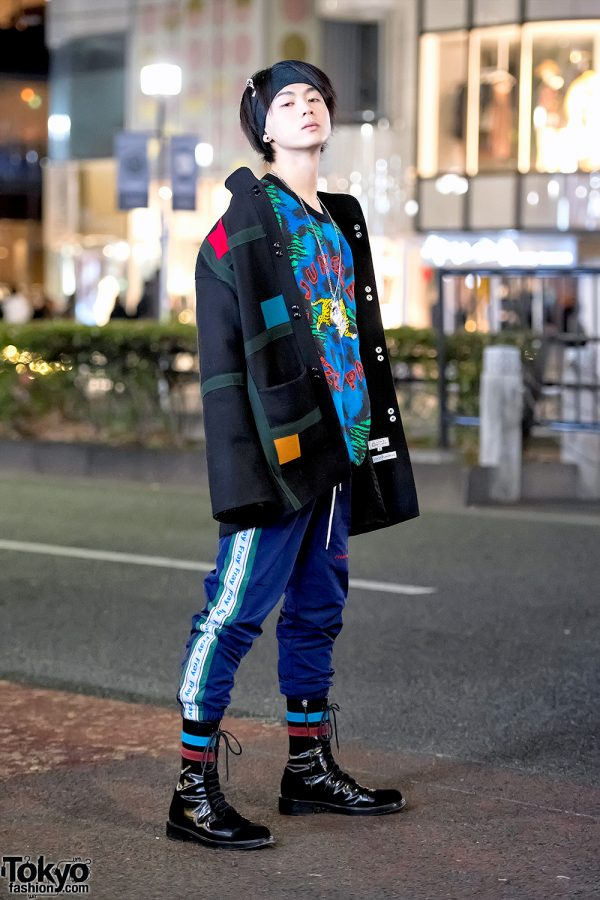 Harajuku Guy in Kenzo Sweater, Fresh Anti Youth, Raf Simons & Vivienne Westwood