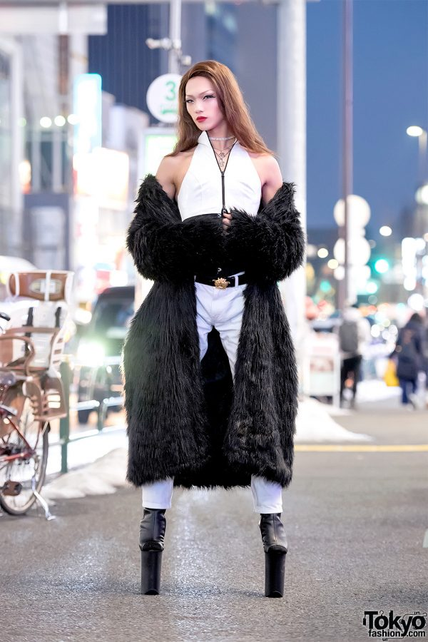 Super Tall High Heels By Pleaser Faux Fur Coat Amp For Your