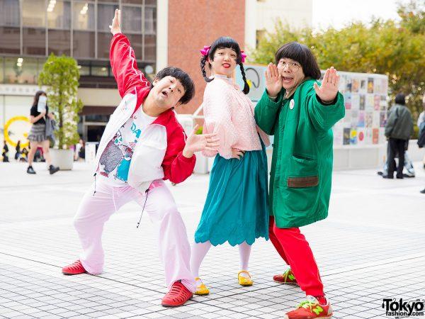 Japanese Entertainers in Colorful Streetwear w/ Vintage, Waku Waku Date, Love & Pink, Hangyodon & Sakata Aimi
