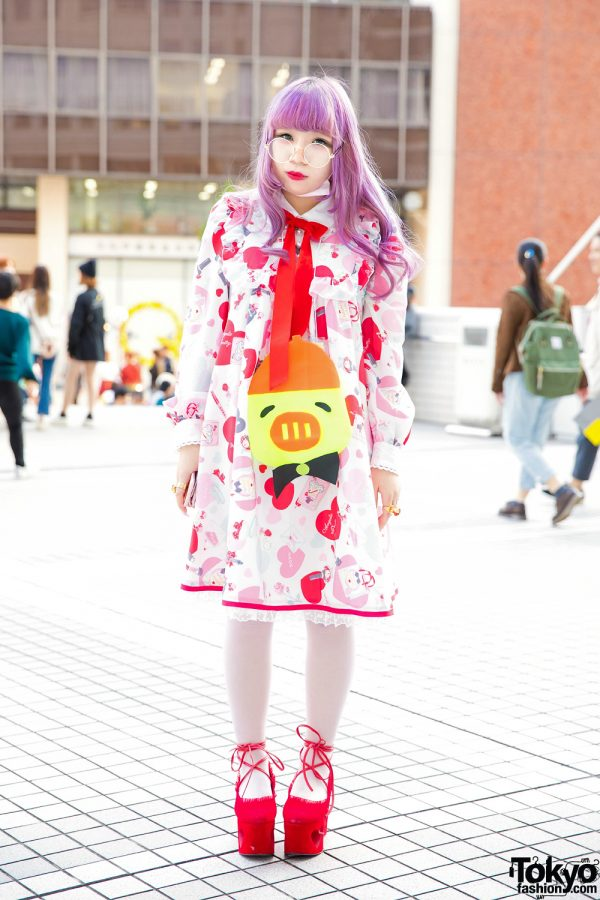 Purple Hair & Kawaii Tokyo Street Style w/ Swankiss, Angelic Pretty & Baby The Stars Shine Bright