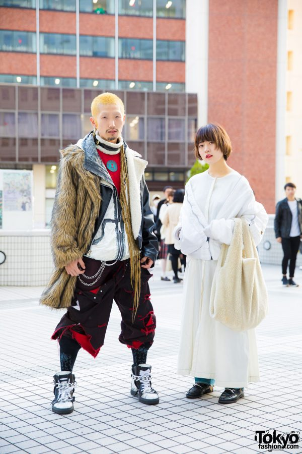 Tokyo Duo in Winter Street Fashion w/ Barragan, Anton Berluti, Rowan Clothing Co., Vejas, Alpha, Eckhaus Latta, Levi's, Gucci & MM6