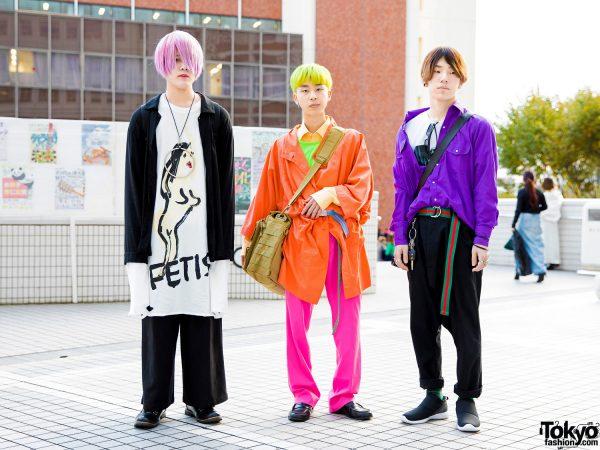 Japanese Teen Streetwear & Colorful Hairstyles in Tokyo w/ Fetis, Monomania, WEGO & Vintage Fashion