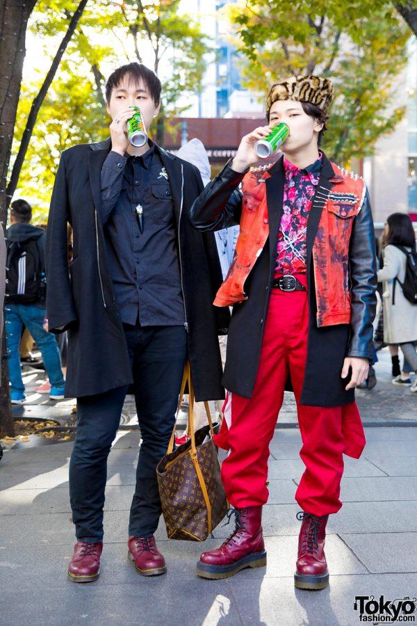 Winter Harajuku Streetwear w/ Remake Items, Christian Louboutin, Michel Klein, Jackrose, Dr. Martens, Louis Vuitton & Tiffany