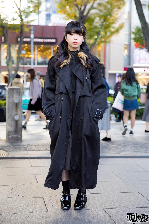 Dark Tokyo Winter Street Fashion W Perverze Jeffrey Campbell Bubbles Ozoc The North Face