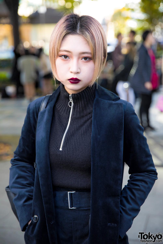 Dark Harajuku Street Fashion Amp Bob Hairstyle W Velvet