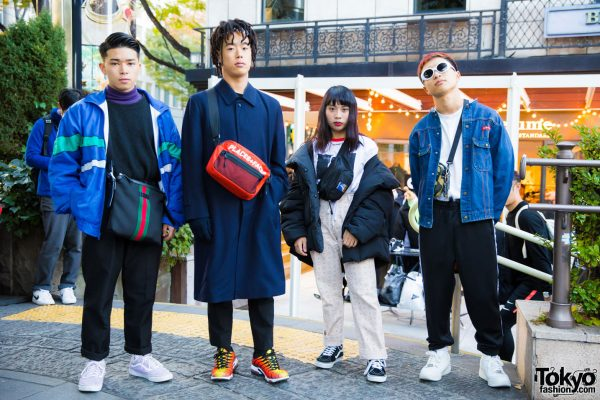 Harajuku Winter Street Fashion Styles w/ Gucci, Vans, Roberto Cavalli, Nike Air Max Plus, Places + Faces, Fred Perry, H&M, MCM & A Bathing Ape