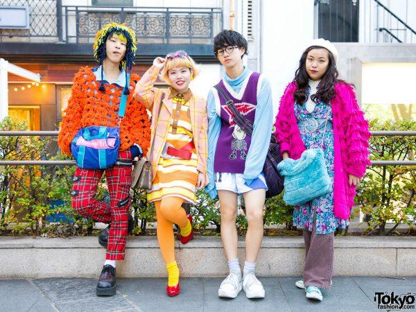 Colorful Group Tokyo Street Fashion w/ Dog Harajuku, Gucci, Tokyo Bopper, Kinji, Christopher Nemeth, Mode Off & Tommy Hilfiger