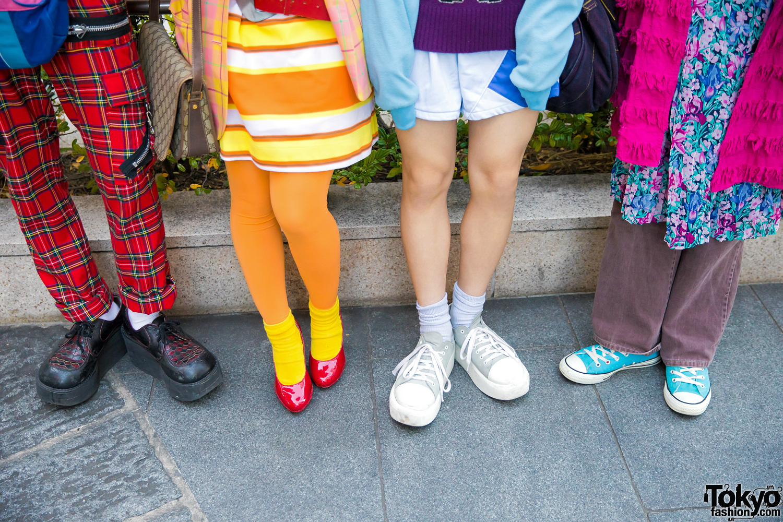 Colorful Group Tokyo Street Fashion W Dog Harajuku Gucci