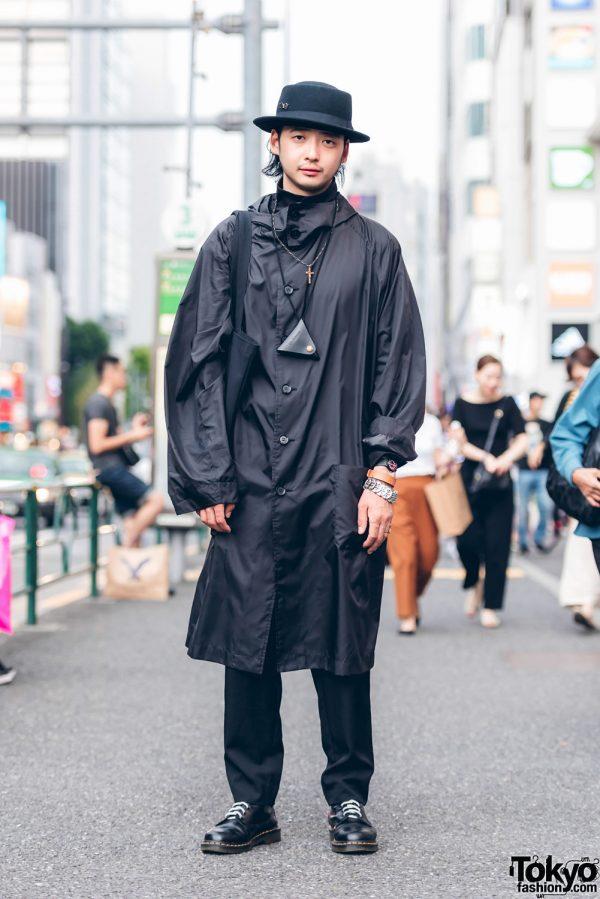 All Black Streetwear Fashion in Harajuku w/ Yohji Yamamoto, Y's & Dr. Martens