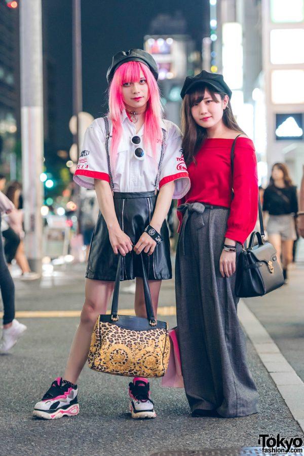 Night Time Street Fashion in Harajuku w/ Never Mind The XU, Hellcat Punks, Bubbles, Gianni Versace, Nyulycadelic & Samantha Vega