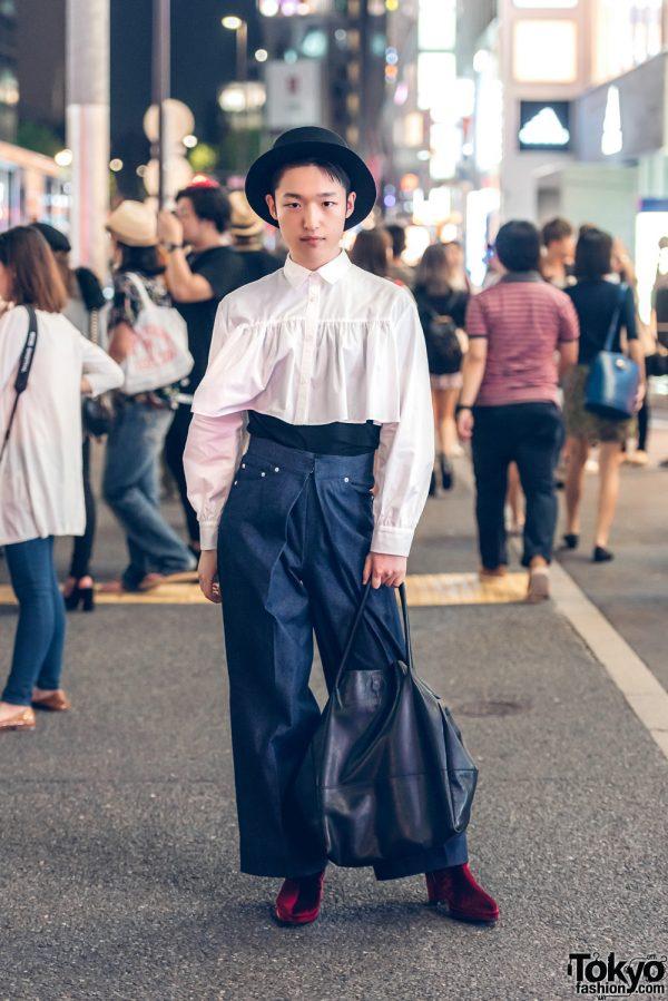 Harajuku Guy in Androgynous Look w/ &ellecy, John Lawrence Sullivan, Banal Chic Bizarre & CA4LA