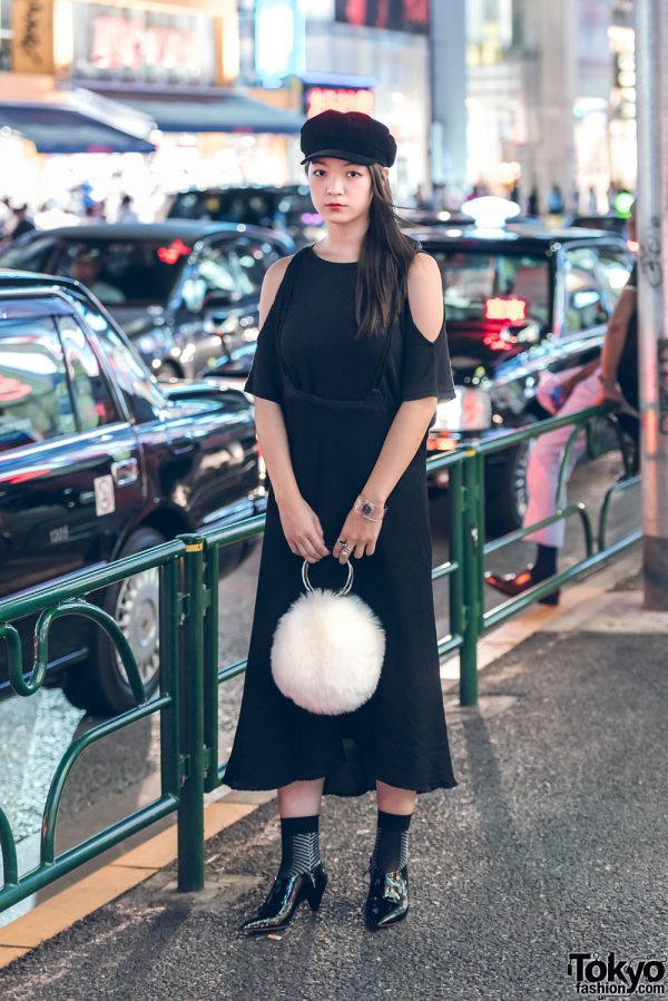 Minimalist Japanese Streetwear in Harajuku w/ Yohji Yamamoto, Issey Miyake & A White Zara Fuzzy Handbag