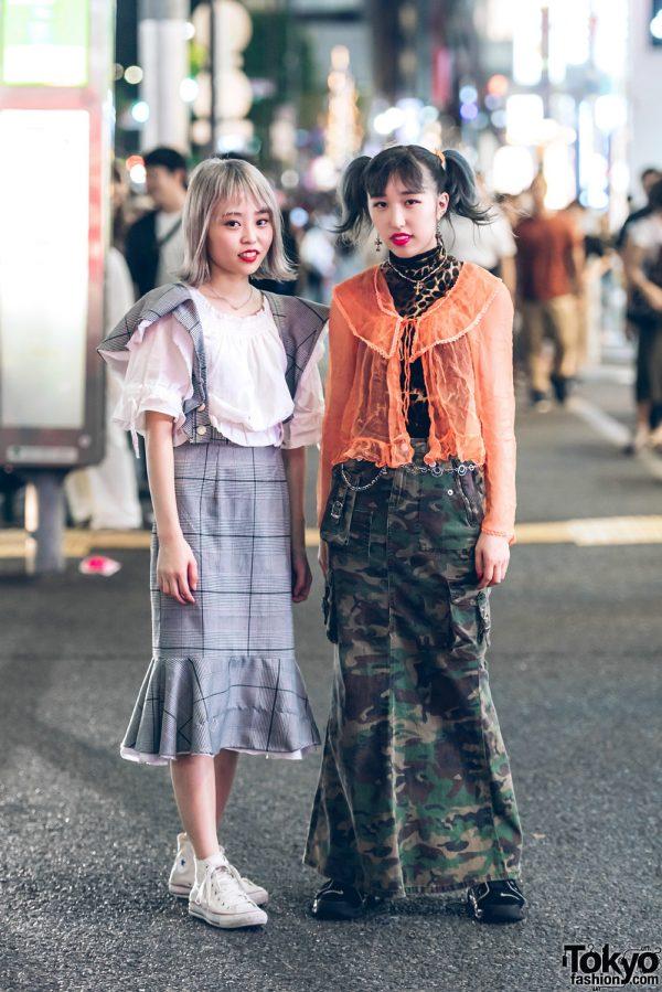 Vintage Ruffles Fashion Styles by Harajuku Girls w/ Nike Air & Converse Sneakers