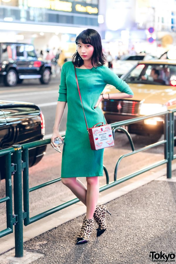 Sophisticated Street Style w/ Hand-Me-Down Dress, Charlotte Olympia Shoes & Olympia Le-Tan Bag