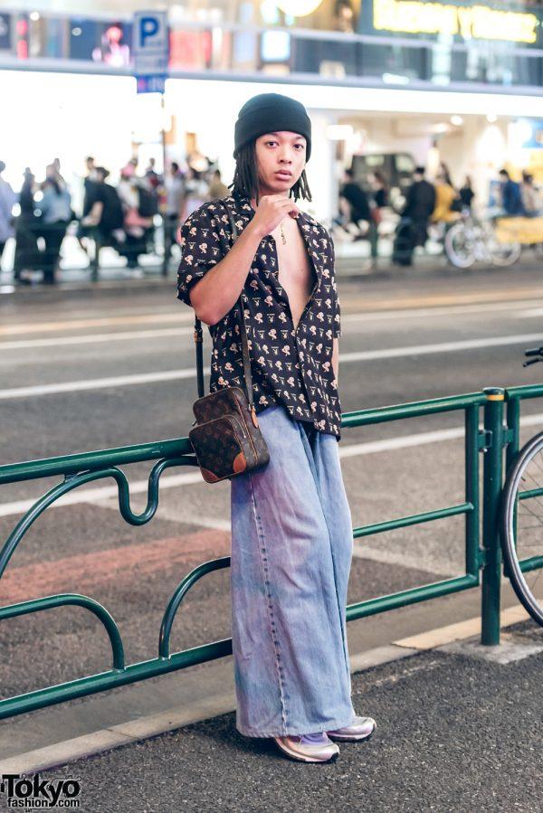 Minimalist Street Style w/ Playboy Shirt, Levi's Jeans, Louis Vuitton Bag & Nike Air Max 97 Sneakers