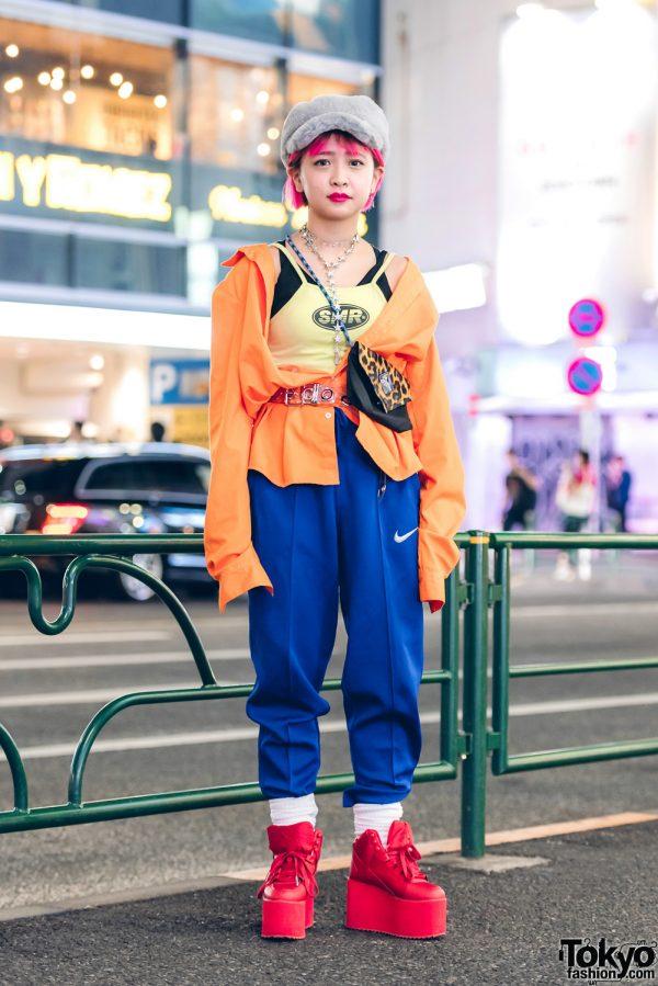 Harajuku Girl in Sporty Chic Fashion w/ Gaga, Nike, YRU, Gallerie & Faith Tokyo