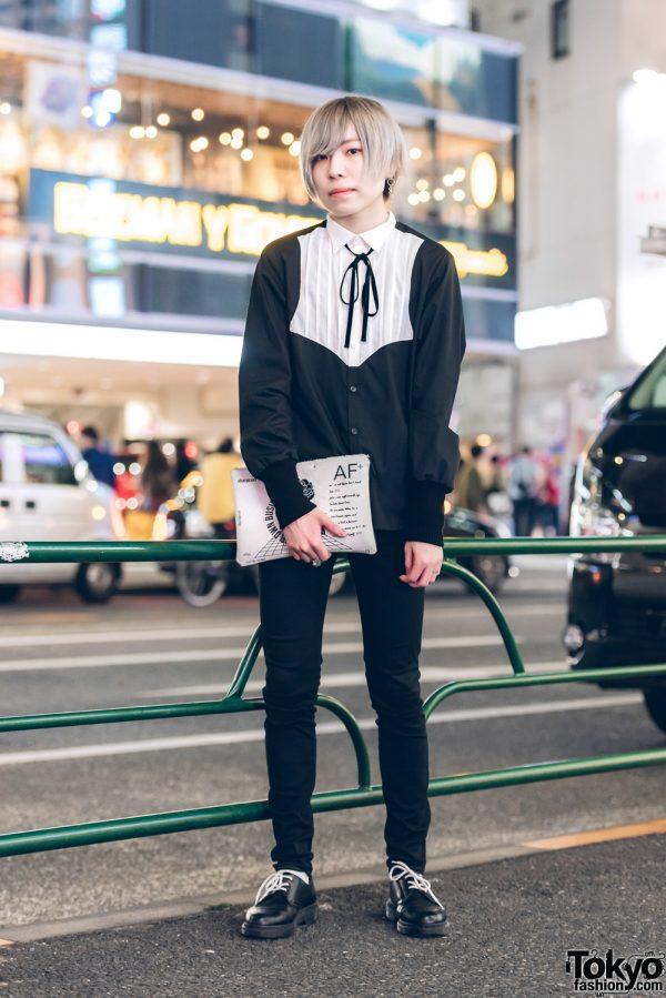 Androgynous Monochromatic Fashion w/ Milkboy, Uniqlo, M.Y.O.B., Dr. Martens & Vivienne Westwood