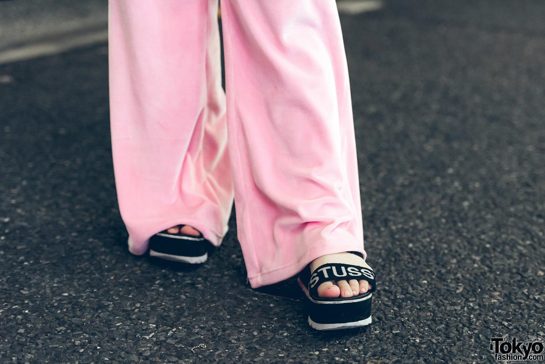All Pink Sporty Street Style In Harajuku W/ Jouetie