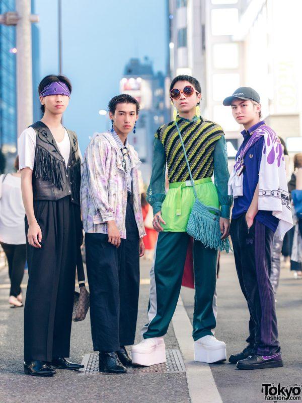 Harajuku Squad Eclectic Street Fashion w/ H&M, Comme des Garcons, Kinji, Reebok, Fred Perry, 032c, Balenciaga & Ambush
