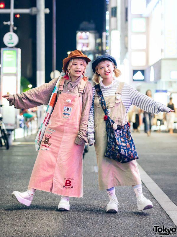 "Amatunal Shop Staff ""Twinning"" in Overalls Fashion w/ Ralph Lauren, Amatunal, Tokyo Bopper, Kinji & Chihiro Yasuda"