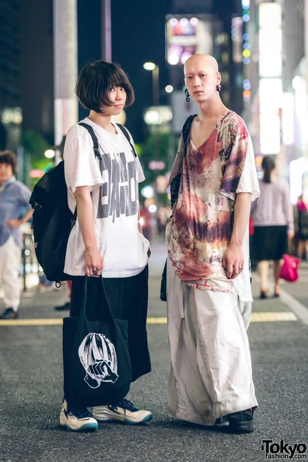Harajuku Duo in Casual Street Fashion w/ Nozomi Ishiguro, Thunderbox, UNIQLO, Nike, Oroka Tokyo, Boy London, H&M, Yosuke & Vivienne Westwood